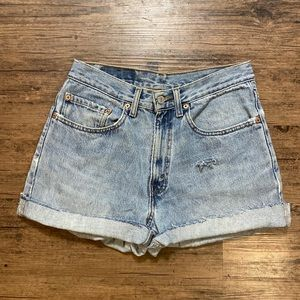 Levi's Vintage 550s Cut Off Shorts